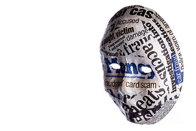Identity Fraud Concept Mask Art Print