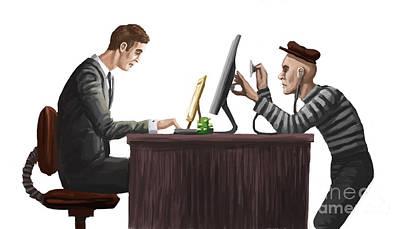 Identity Theft, Illustration Art Print by Spencer Sutton