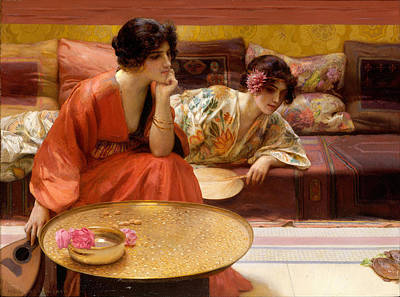 Idle Hour Painting - Idle Hours by Henry Siddons Mowbray