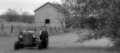 Photograph - Idle Tractor by Jim Vance
