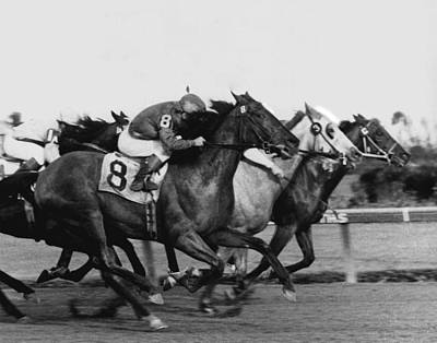 Dirt Photograph - Idler Horse Racing Vintage by Retro Images Archive