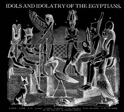 King Tut Digital Art - Idols  Of Egypt by Daniel Hagerman