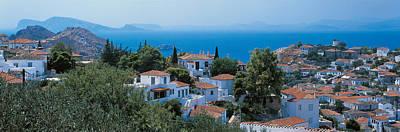 Hazy Sky Photograph - Idra Island Greece by Panoramic Images