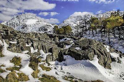 Idwal At Winter Art Print by Darren Wilkes