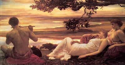 Frederic Leighton Painting - Idyll by Frederic Leighton
