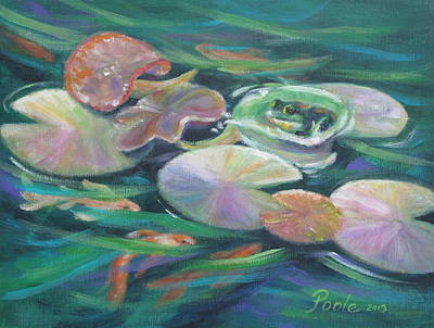 Painting - Idyllic Lilypads by Pamela Poole
