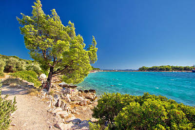 Photograph - Idyllic Turquoise Beach In Croatia by Brch Photography