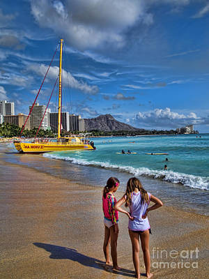 Photograph - Idyllic Waikiki Beach No 2 by David Smith