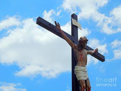 Photograph - Iesus Nazarenvs Rex Ivadaeorum At St. Joseph Catholic Church In New Orleans Louisiana by Michael Hoard