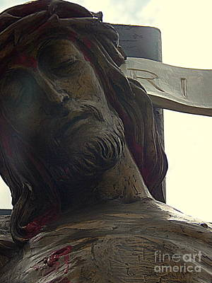 Photograph - Iesus Nazarenvs Rex Ivdaeorvm At St Joseph Catholic Church In New Orleans Louisiana by Michael Hoard