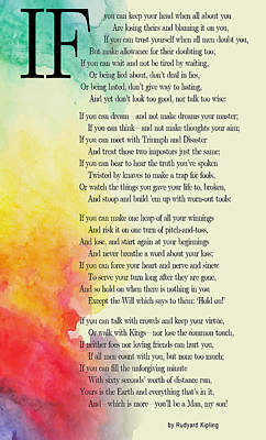 Moral Digital Art - If By Rudyard Kipling by Daniel Hagerman