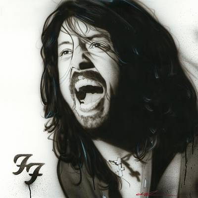 Dave Grohl Painting - Dave Grohl - ' If Everything Could Ever Feel This Real Forever ' by Christian Chapman Art