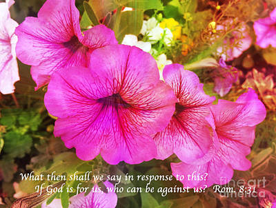 Photograph - If God Is For Us Who Can Be Against Us by Femina Photo Art By Maggie