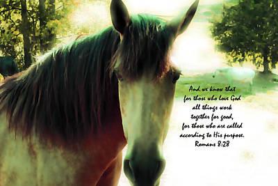 If Horses Could Talk - Verse Art Print by Anita Faye