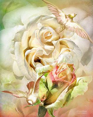 Mixed Media - If I Can Dream - Elvis Rose by Carol Cavalaris