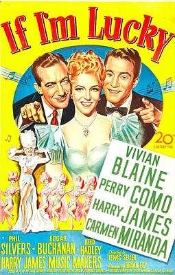 Harry James Photograph - If Im Lucky, Us Poster, Top From Left by Everett