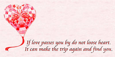 Digital Art - If Love Passes You By Poem by Andee Design