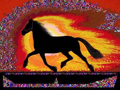 Multimedia Mixed Media - If Mind Is A Horse You Need Your Heart And Soul To Control It For The Right Pace And Direction  Succ by Navin Joshi
