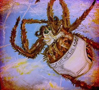 Painting - If Orb Weavers Wore Underwear by Alexandria Weaselwise Busen