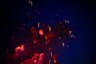 Photograph - If Pollock Painted In Fireworks by Ronda Broatch