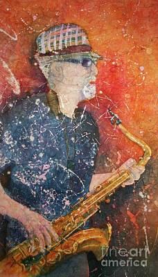 Painting - If Rich Played Sax by Carol Losinski Naylor