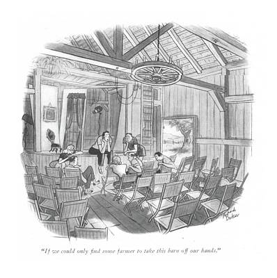 Theater Drawing - If We Could Only ?nd Some Farmer To Take This by Richard Decker