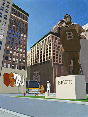 Biggie Painting - If You Dont Know Now You Know by Scott Listfield