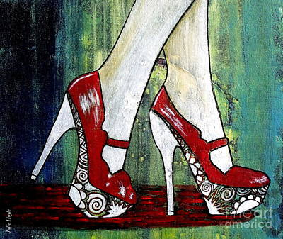 Painting - If You Walked In My Shoes by Julie  Hoyle