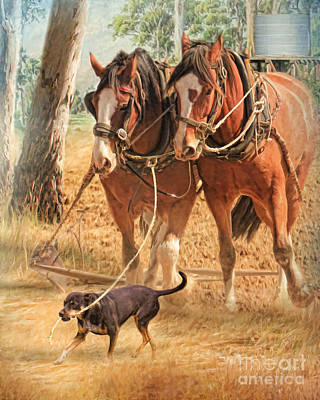 Kelpie Digital Art - If You Want The Job Done by Trudi Simmonds