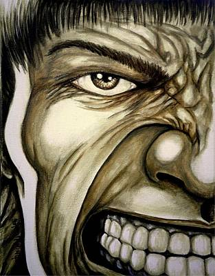 Hulk Painting - If You're This Close It's Too Late by Al  Molina
