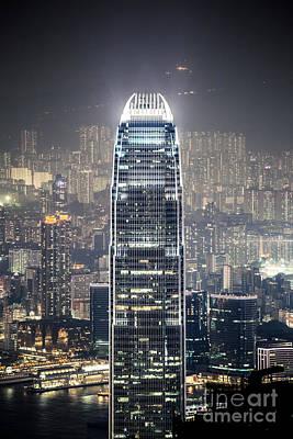 Hong Kong Photograph - Ifc Tower And City Of Hong Kong At Night by Matteo Colombo