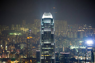 Ifc Tower And City Of Hong Kong Print by Matteo Colombo