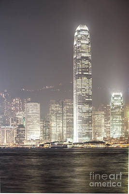 Ifc Tower In Hong Kong Print by Matteo Colombo