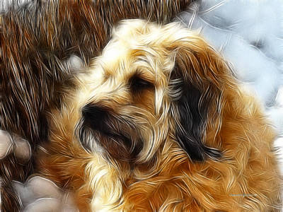 Puppies Digital Art - Iggs by Robert Orinski