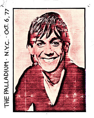 Iggy Pop At The Palladium Nyc Art Print
