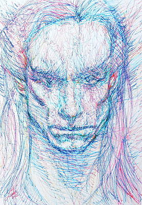 Iggy Pop Painting - Iggy Pop - Colored Pens Portrait by Fabrizio Cassetta