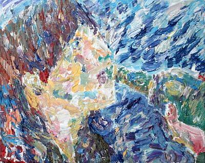 Iggy Pop Painting - Iggy Pop Drinking - Expressionist Portrait by Fabrizio Cassetta