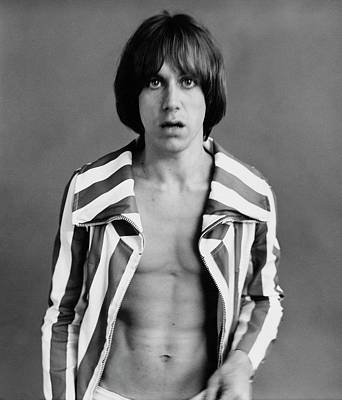 Photograph - Iggy Pop Wearing A Striped Jacket by Peter Hujar