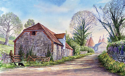 Ightham Path Art Print by Steve Crisp