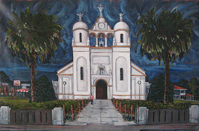 Painting - Iglesia Curridabat  Costa Rica by Jeff Seaberg