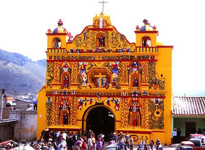 Photograph - Iglesia De San Andres Xecul  by Robert  Rodvik
