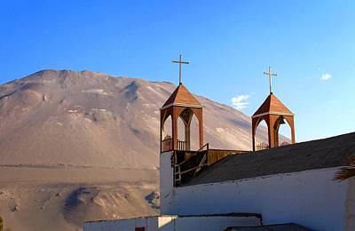 Church Photograph - Iglesia De San Geronimo Poconchile Chile by Kurt Van Wagner