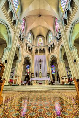 Iglesia De San Isidro De Coronado In Costa Rica Vertical Art Print