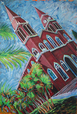 Painting - Iglesia Grecia  Costa Rica by Jeff Seaberg
