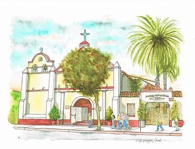 Iglesia Nuestra Senora De Los Angeles - Los-angeles - California Art Print