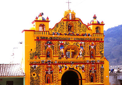 Photograph - Iglesia San Andres Xecul by Robert  Rodvik
