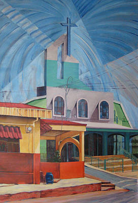 Painting - Iglesia San Rafael  Costa Rica by Jeff Seaberg