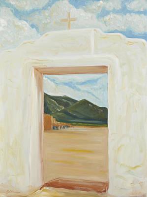 Painting - Iglesia Taos Nm by David  Llanos