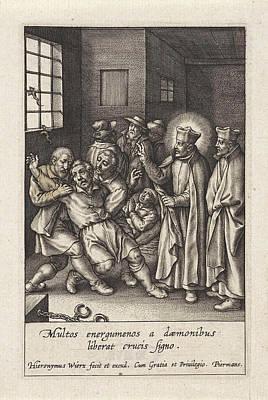 Ignatius Loyola Performs A Devilish Spell Art Print