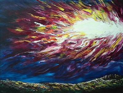 Pallet Knife Painting - Ignited by Pamela Blayney